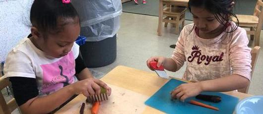 Montessori Students Learn Cooking in the Classroom
